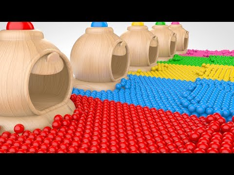 Learn Colors with Color Balls - Colors for Kids - Learning Videos