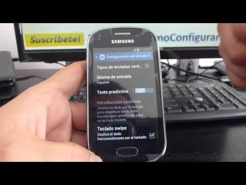 como configurar teclado del samsung Galaxy Fame S6810 español Full HD
