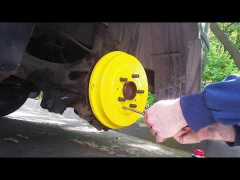 Замена задних барабанных колодок на Ford Focus 2