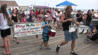 point pleasant beach nj boardwalk with flying mueller brothers drumming 9 2 12