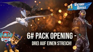 Pack Opening - three on one stroke! - fortnite - paw patrol - dragon taming made easy