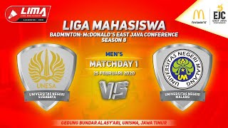 Unesa vs UM Beregu Putra LIMA Badminton: McDonald's East Java Conference Season 8