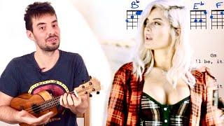 MEANT TO BE  - Ukulele TUTORIAL w/ chords (Bebe Rexha Flordia Georgia)