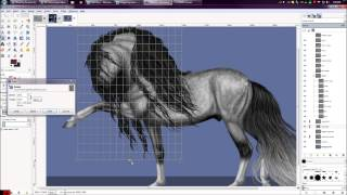 SpeedPaint: Grey Lusitano Spanish Walk Thumbnail