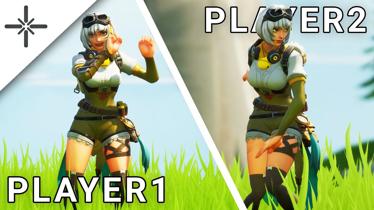 "Synced ""Last Forever"" Fortnite Dance Gameplay (LEAKED Ayo & Teo Emote Ingame) with Side by Side!"