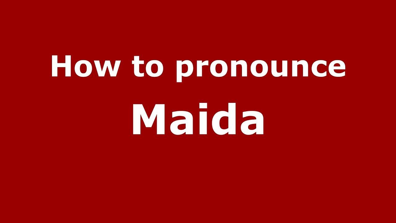 How to pronounce maida italianitaly pronouncenames youtube how to pronounce maida italianitaly pronouncenames sciox Images