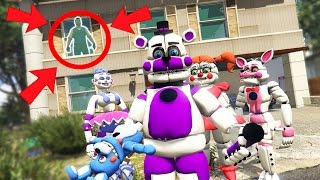 sister location animatronics vs hello neighbor mod gta 5 mods fnaf funny moments