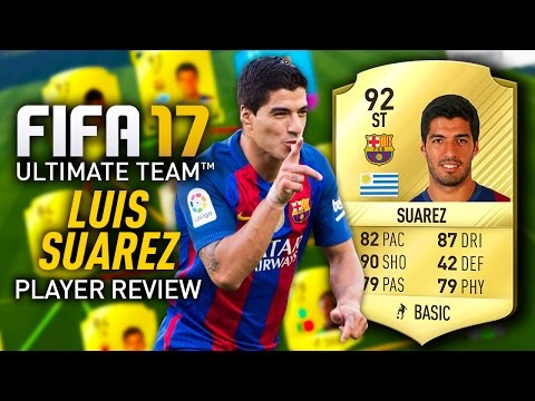 FIFA 17 LUIS SUAREZ (92) PLAYER REVIEW! FIFA 17 ULTIMATE TEAM!