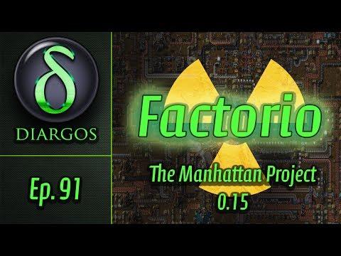 Factorio - Manhattan Project - Ep. 91: New Solar Train Stop