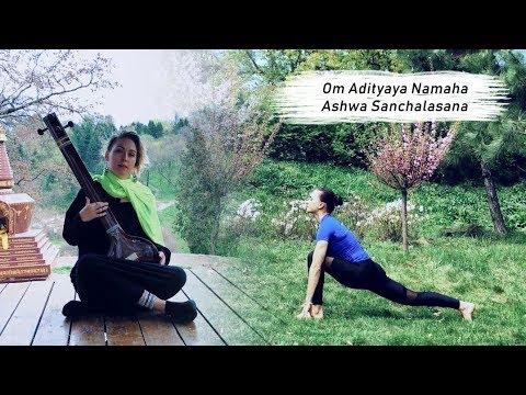 shanti people  surya namaskar  mantra  asana 9  om