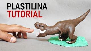 Como hacer un DINOSAURIO T-REX de Plastilina paso a paso - Mi mundo de Plastilina