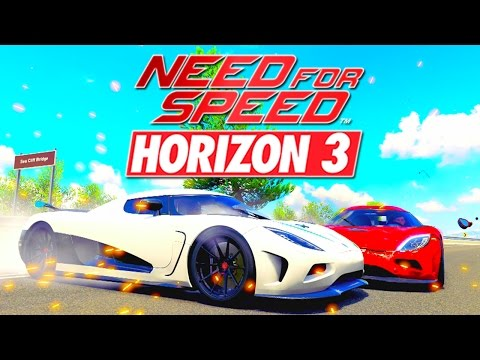 Forza Horizon 3 - NEED FOR SPEED KOENIGSEGG RACE RECREATION !! (Movie)