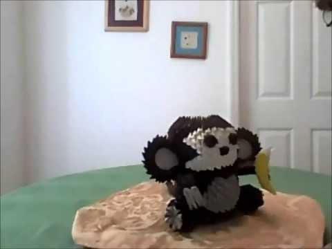 3D Origami Elephant Monkey Angel