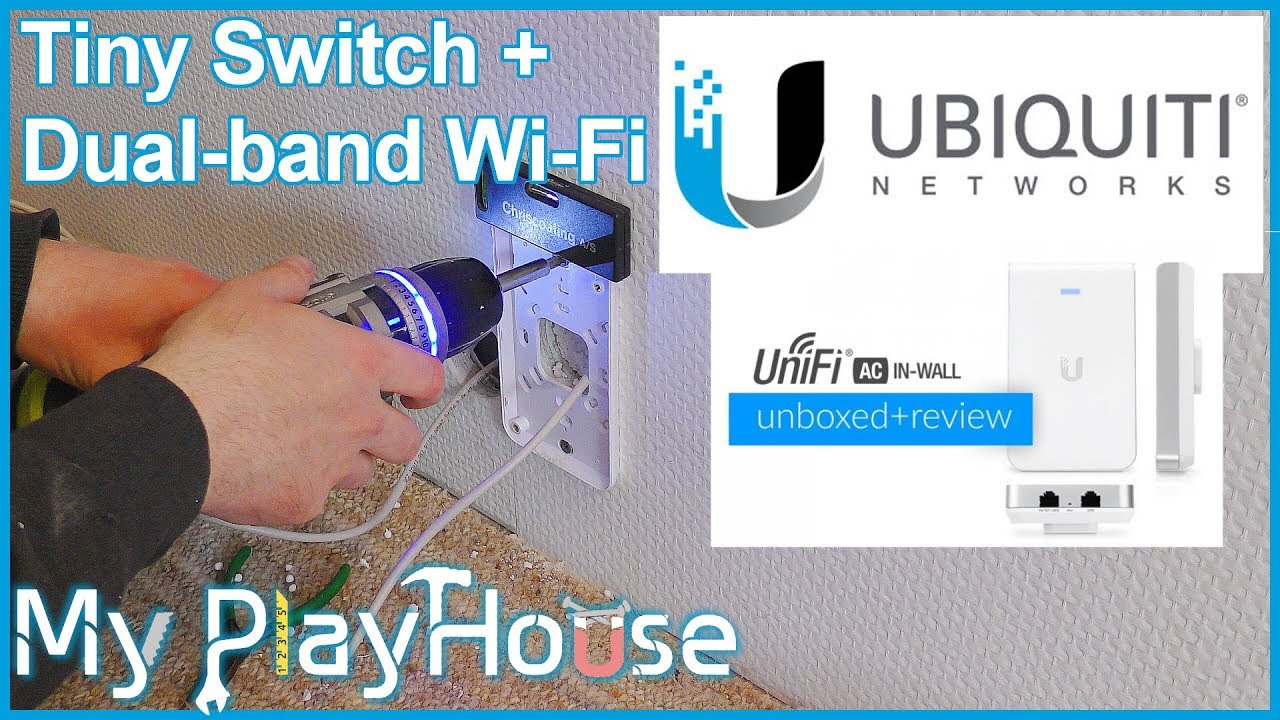 Ubiquiti UniFi AC In-Wall, dual-band Wi-Fi & 2 Gigabit ports - 661