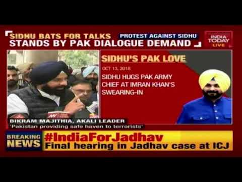 Akali Dal, BJP Protest Against Sidhu Even As Sidhu Stands By Pak Dialogue Demand