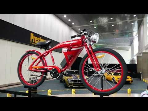 Phantom Electric Bicycles (Bikes) Display - 2017 LA Auto Show, Los Angeles CA