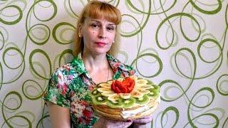Как сделать фруктовый торт без выпечки рецепт Секрета