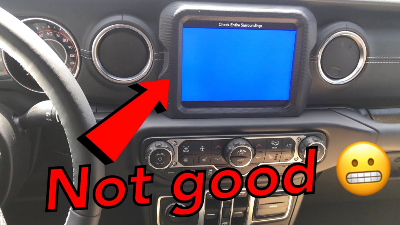 Backup camera blue screen 8 4 Uconnect Radio 2018 Jeep JL Wrangler Can It  be fixed?
