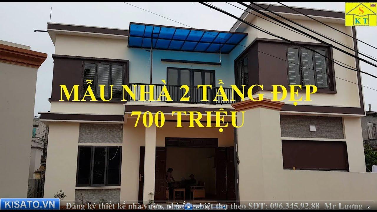 Thăm Quan Mẫu Nhà 2 Tầng Đẹp Diện Tích 12x7m Giá 700 Triệu Tại Nam Định
