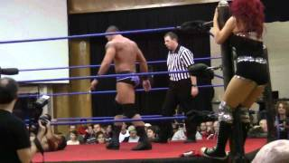 GCW-Shawn Spears and Angelina Love vs. Brent B and Seleziya Sparx2/2