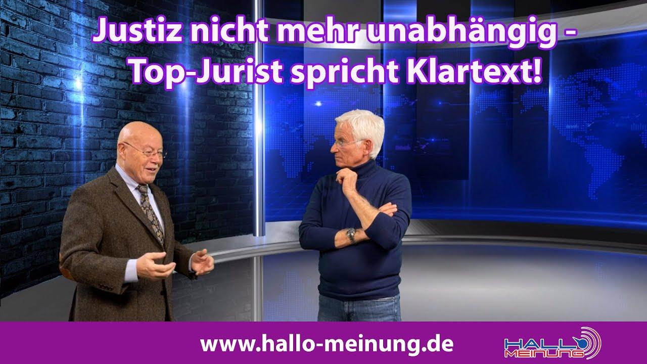 Justiz nicht mehr unabhängig - Top Jurist spricht Klartext!