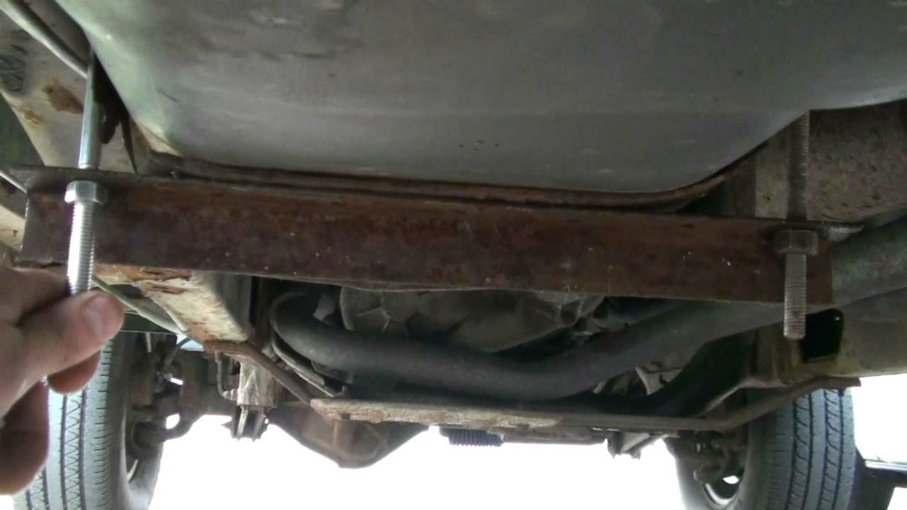 Redneck Temporary Fuel Tank Strap Repair Youtube