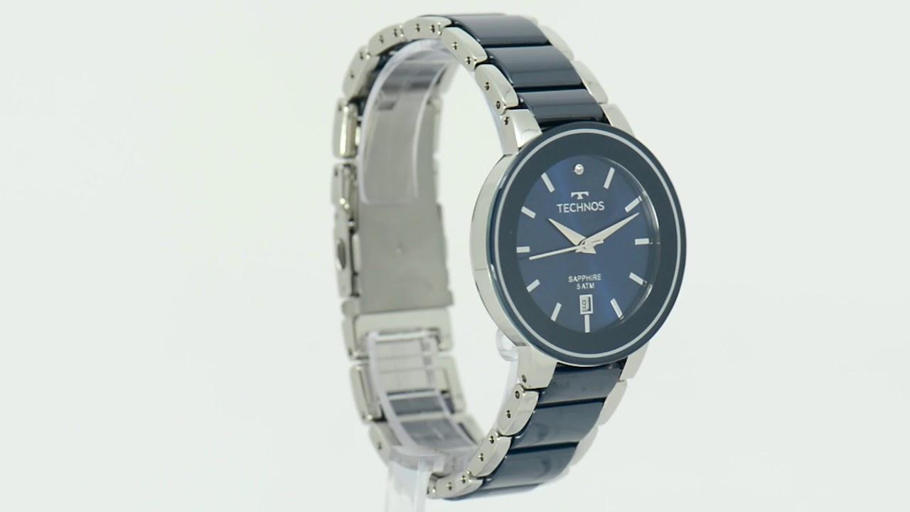 Relógio Technos Feminino Ceramic 2115KRT 1A - Eclock - YouTube cf651d59aa