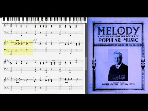 Asia Minor by George L. Cobb (1921, Ragtime piano)