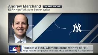 Posada believes PED users shouldn't be in HOF