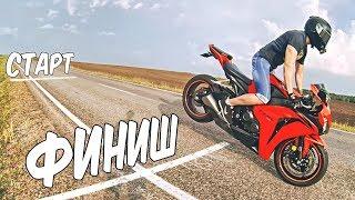 Проехал 10 метров на переднем колесе - трюк stoppie на мотоцикле