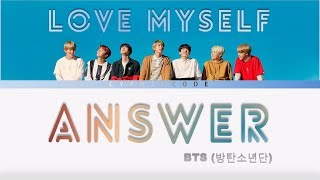 Bts  방탄소년단  – 'answer: Love Myself' Color Coded Lyrics  Eng/rom/han/가사