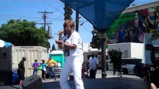 Margo Thunder Performs in L.A. @ Juneteenth Lady Mamalade Rap