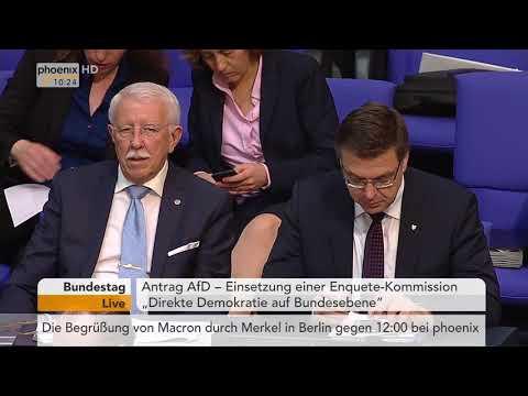 Bundestagsdebatte zur Einsetzung einer Enquete-Kommission für die Direkte Demokratie am 19.04.18