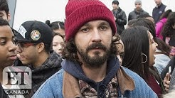Shia LaBeouf Arrested At 'He Will Not Divide Us'  Anti-Trump Public Art Project