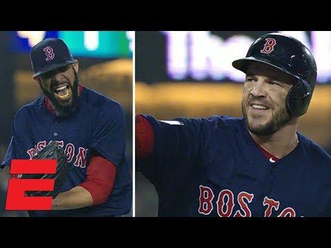 Steve Pearce, David Price react to Boston Red Sox winning World Series | MLB Sound