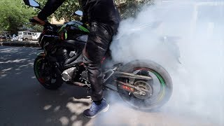 first BURNOUT on Kawasaki Z800