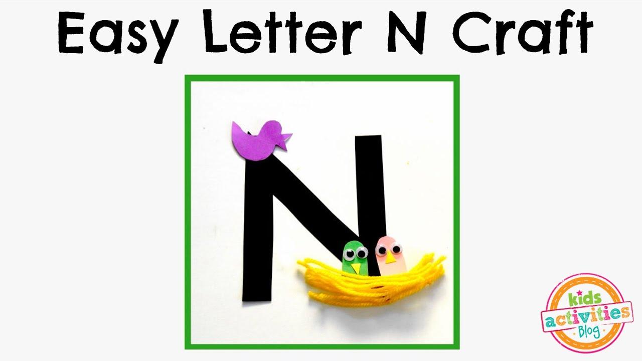 easy letter n craft preschool alphabet resource youtube. Black Bedroom Furniture Sets. Home Design Ideas