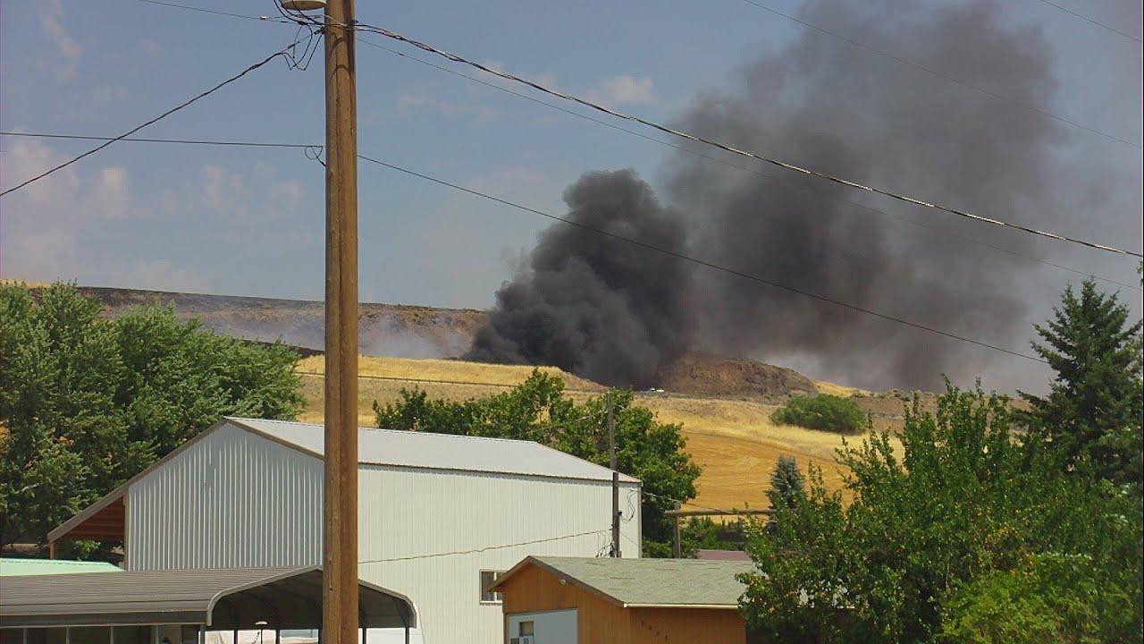 07 05 2015 Rock Pit Fire, Pomeroy WA
