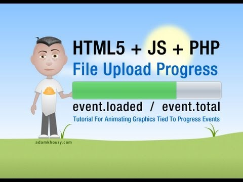 File Upload Progress Bar Meter Tutorial HTML5 Ajax PHP