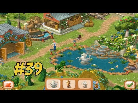 GARDENSCAPES NEW ACRES #39 Gameplay Story Playthrough | Area 8 Stable Area  Day 4 Ending