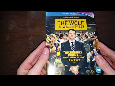 The Wolf Of Wall Street UK Blu ray Unboxing