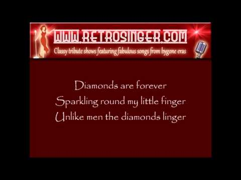 Diamonds Are Forever with on-screen lyrics