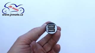 Adaptér 2x USB 5V / max. 2,1A, do zásuvky Ø 18mm, HS-289308