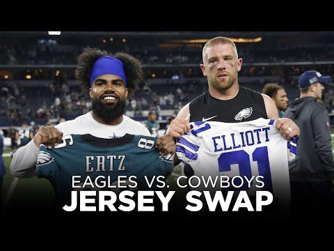 Jersey swap between Dallas Cowboys and Philadelphia Eagles 2019