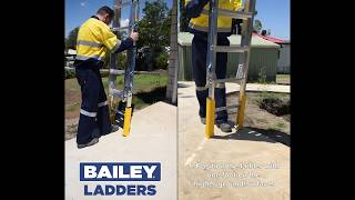 Bailey Pro Extension Ladder with Leveller