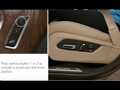 How to use the seat and door mirror memory system
