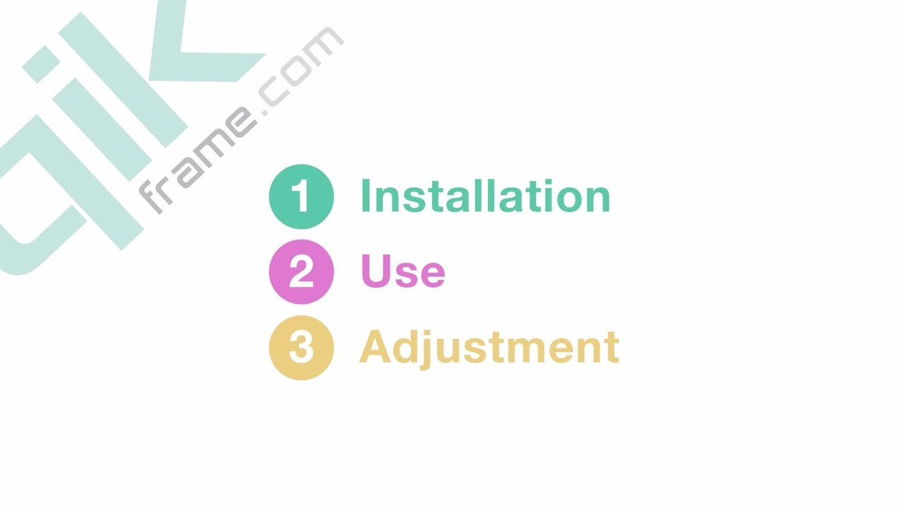 QIK FRAME® - Installation Instructions and Use and How To - YouTube