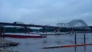 Barge Hits Bridge