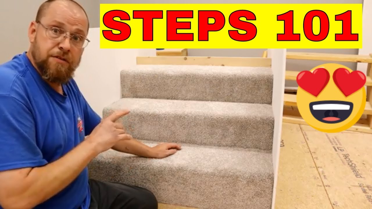 How To Carpet Stairs Youtube