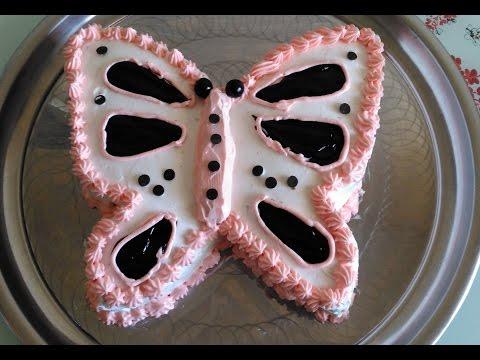 Kelebek Şeklinde Yaş Pasta Tarifi